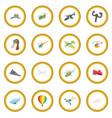 aviation icon circle vector image