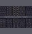 Luxury seamless ornamental patterns - geometric vector image