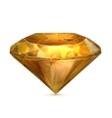 Amber yellow icon vector image