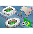 Isometric Stadium of Recife and Belo Horizonte vector image