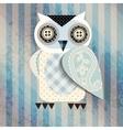 White cartoon owl vector image