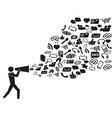 megaphone social media marketing vector image vector image