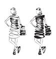 Fashion model sketch vector image