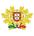 coat of arms of Portugal vector image