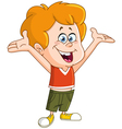 kid with raised arms vector image vector image