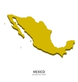 Isometric map of Mexico detailed vector image