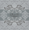 gray with floral elements vector image vector image