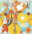 Circus poster retro styled seamless pattern vector image