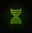 dna green concept logotype or icon vector image