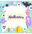 Halloween Paper Template vector image