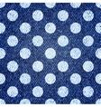 Jeans retro seamless polka-dot background vector image