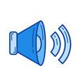 megaphone line icon vector image