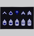 military ranks stripes and chevrons set army vector image