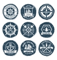 Nautical Labels And Stamps vector image