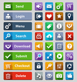 web design buttons set vector image