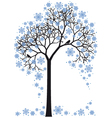 winter tree vector image vector image