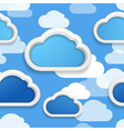 Clouds seamless background vector image