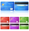 Credit Card two sides vector image