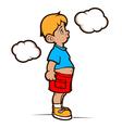 dreaming boy vector image vector image