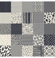 25 seamless different monochrome patterns vector image