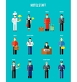 hotel staff vector image