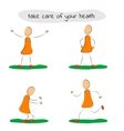 Four icon man care of your health vector image