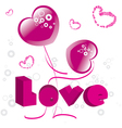 hearts valentines day vector image vector image