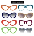 A set of fashion sunglasses and frames Cats Eye vector image