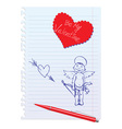 Card with Hand-Drawn Sketchy Angel vector image vector image