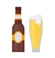 Beer glass bottle vector image