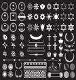 Big set of design elements resize vector image