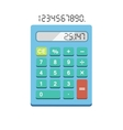 Calculator flat isolated on white vector image