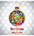 Christmas with holiday elements vector image