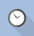 Clock flat icon World time concept Internet vector image