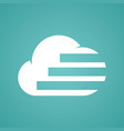 cloud line stripe logo vector image