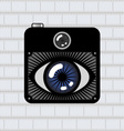 eye photo camera vector image
