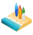 modern colorful surfboard Holiday vector image