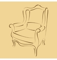 Sketched armchair vector image