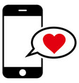 smartphone love message icon vector image