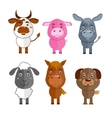 Wild and domestic animal icons set vector image