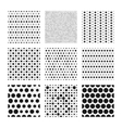 Dotted texture collection seamless vector image vector image