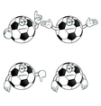 Bored cartoon football set vector image vector image