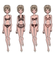 Collection of lingerie Panty and bra set vector image vector image