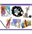 cartoon concepts and ideas set vector image vector image