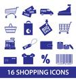 shopping icons set eps10 vector image
