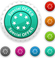 Special offer award vector image