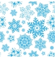 winter snowflakes blue christmas seamless vector image