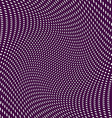 Black and white moire lines striped psychedelic vector image