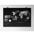 World Map and Information Graphics vector image