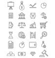Economy icons set vector image